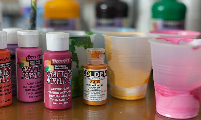 Artist grade paint vs. Student grade