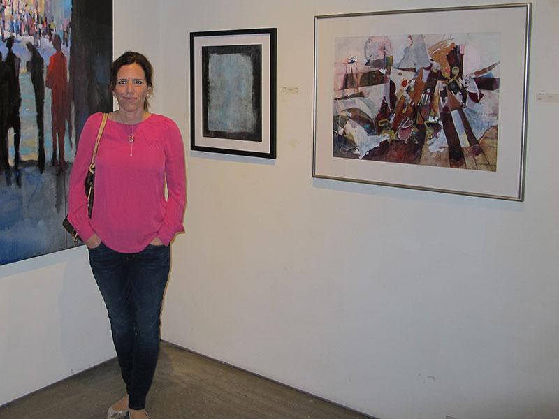Me at the San Diego Art Institute opening reception, Balboa Park. Thru 2/24/13.