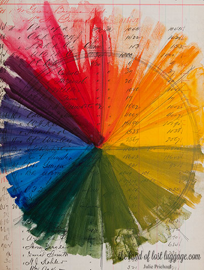 The color wheel we created for our book.