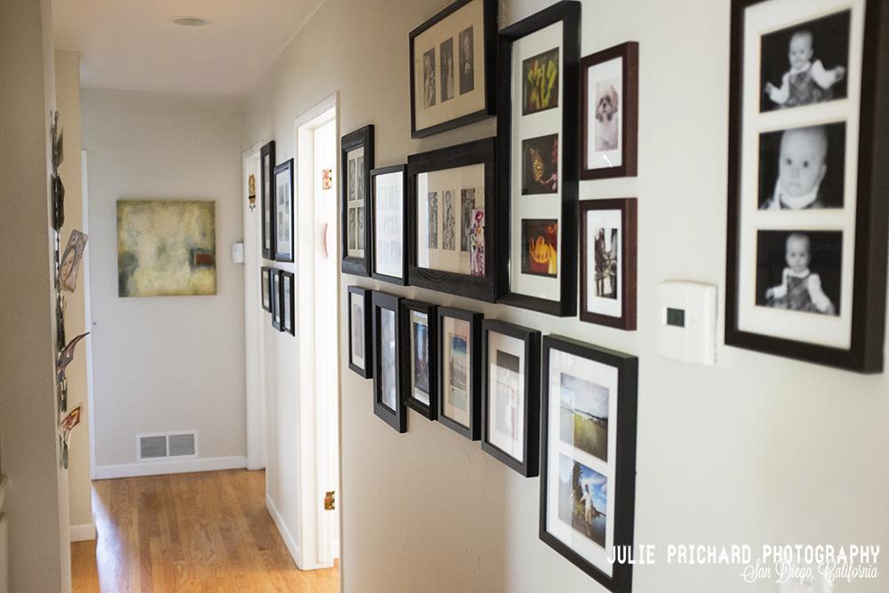Julie's hallway. Mail-art gifts on the left side.