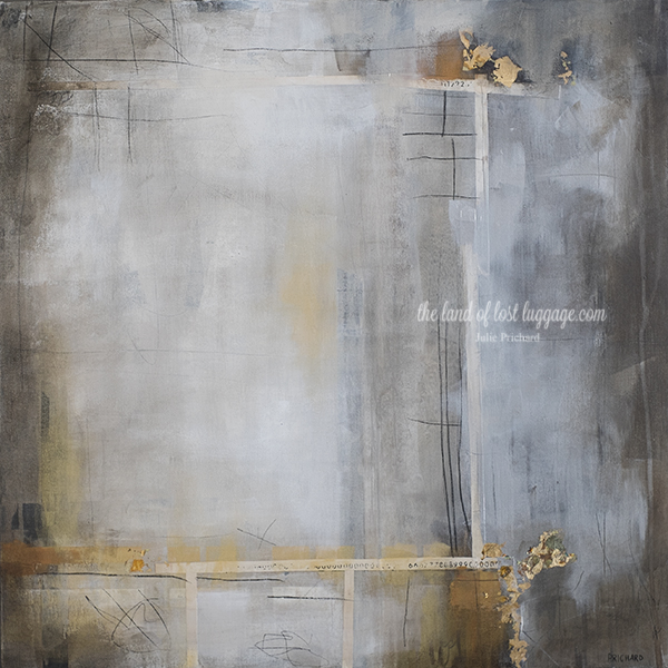 24x24 Mixed media on gallery canvas; second half of a diptych now complete.