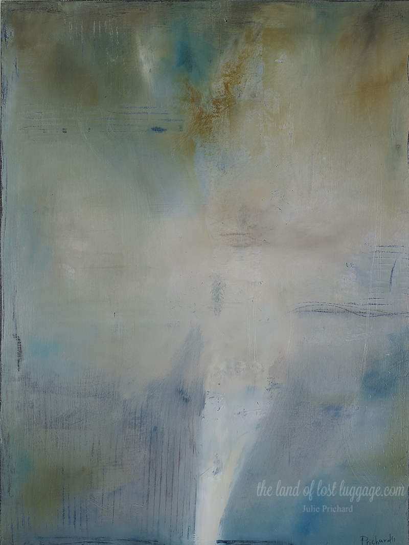 "Untitled 81; Acrylic on cradled wood panel; 24x18x1.5"""