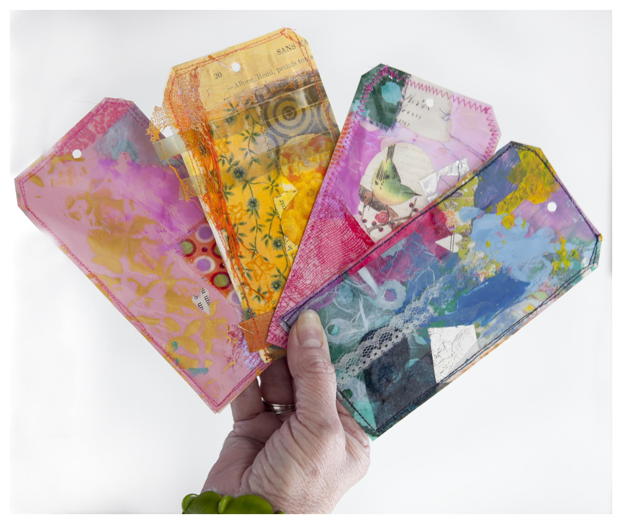 Only one sample of things you can find in our Mixed Media Melange Ecourse.