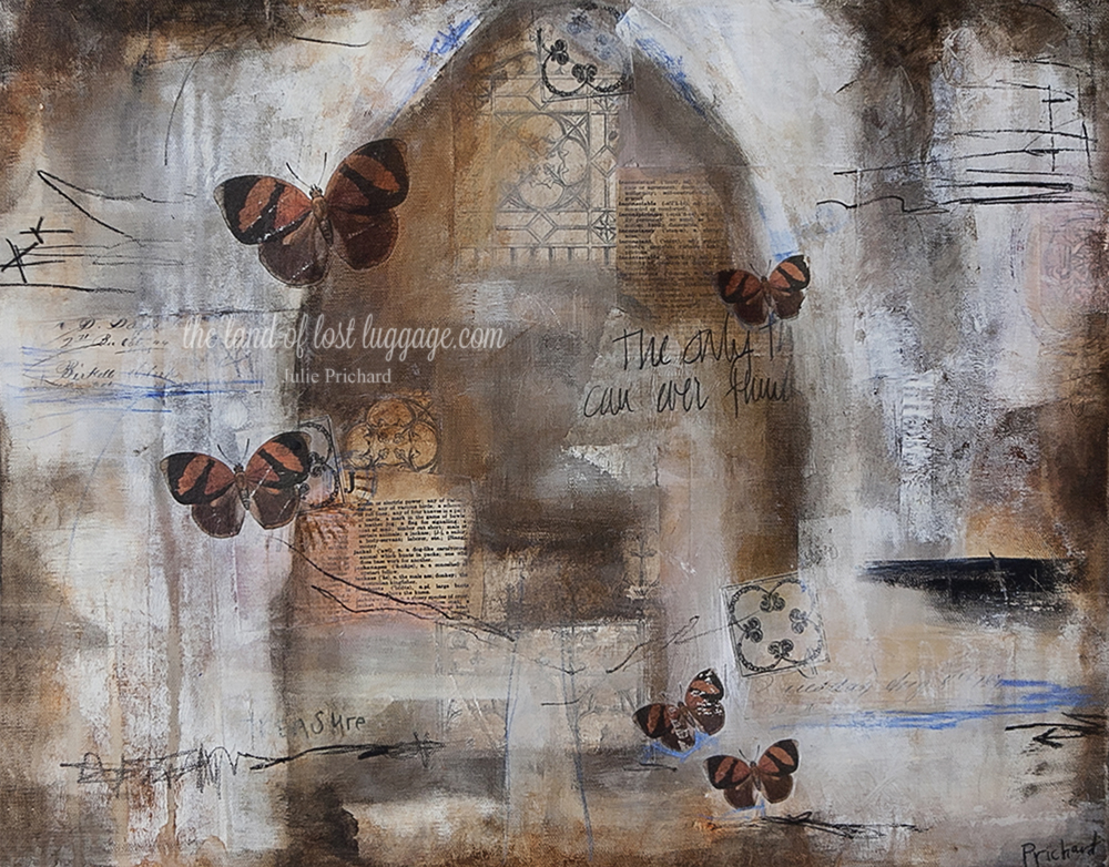 """""""Fading Memory"""" Original Mixed Media on Gallery Canvas 16x20x1.5"""""""