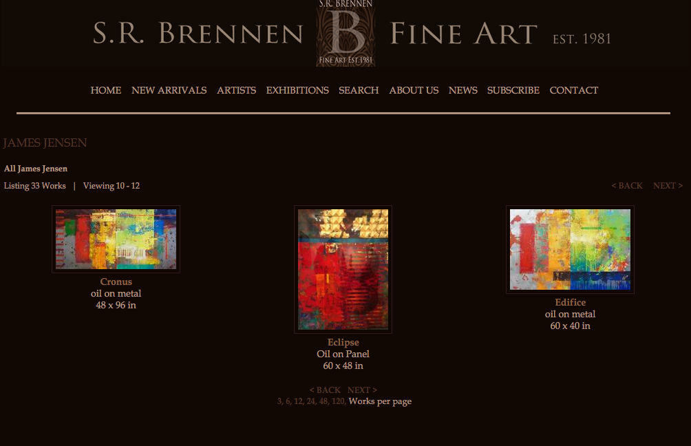 Now showing at the Brennen Fine Art Gallery