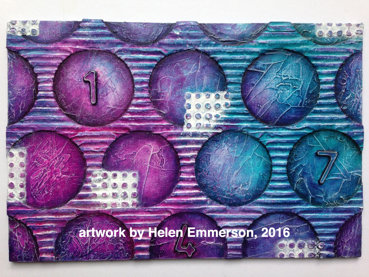 Student work by Helen Emmerson in the Texture Town Mixed Media workshop.