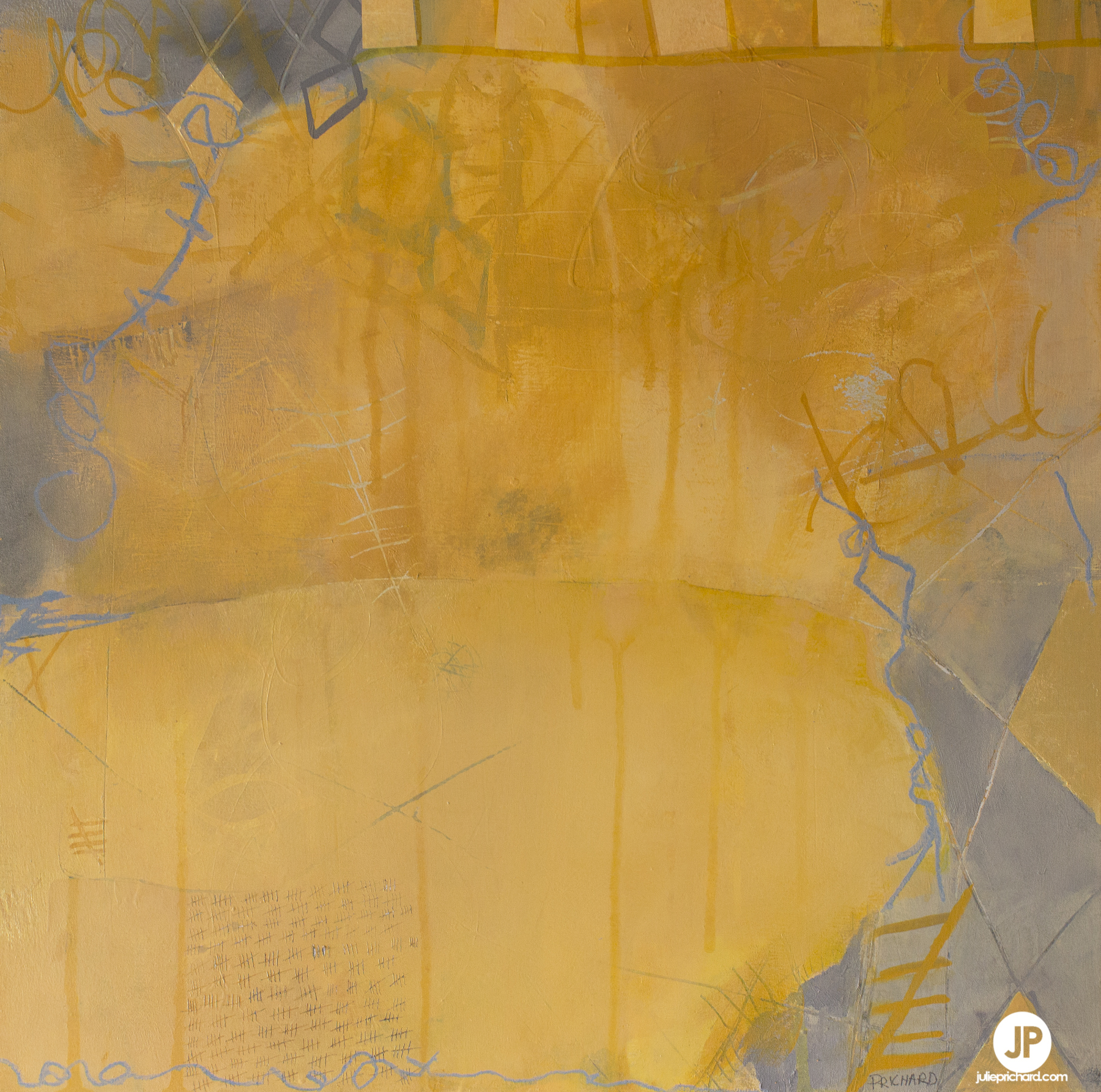 """Kite"" mixed media on cradled wood panel; 18x18x1"