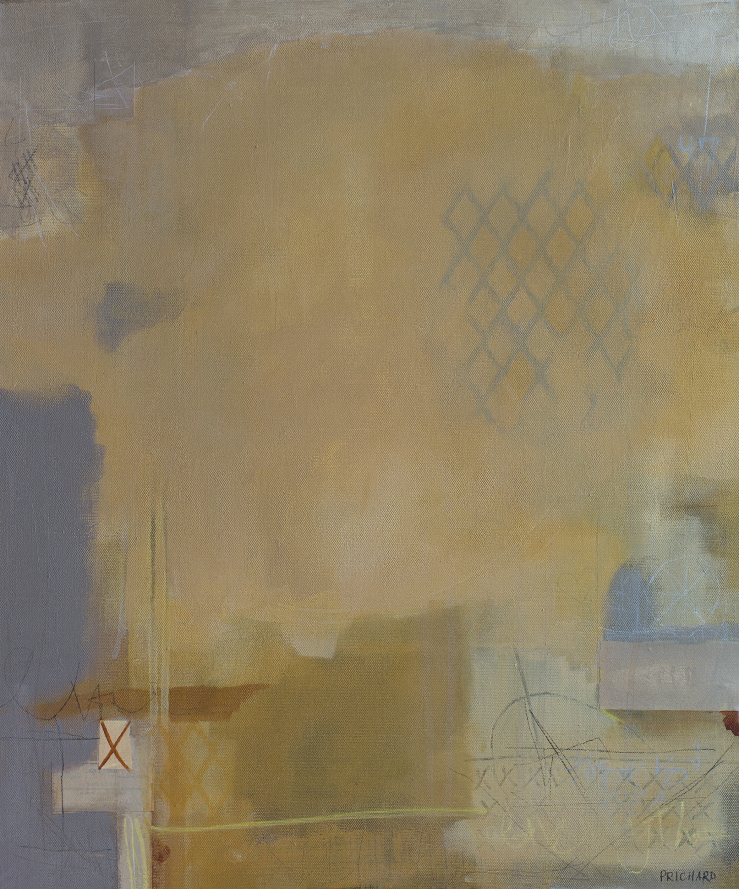 Yep....abstract shapes, composition....distressed, aged paint colors!