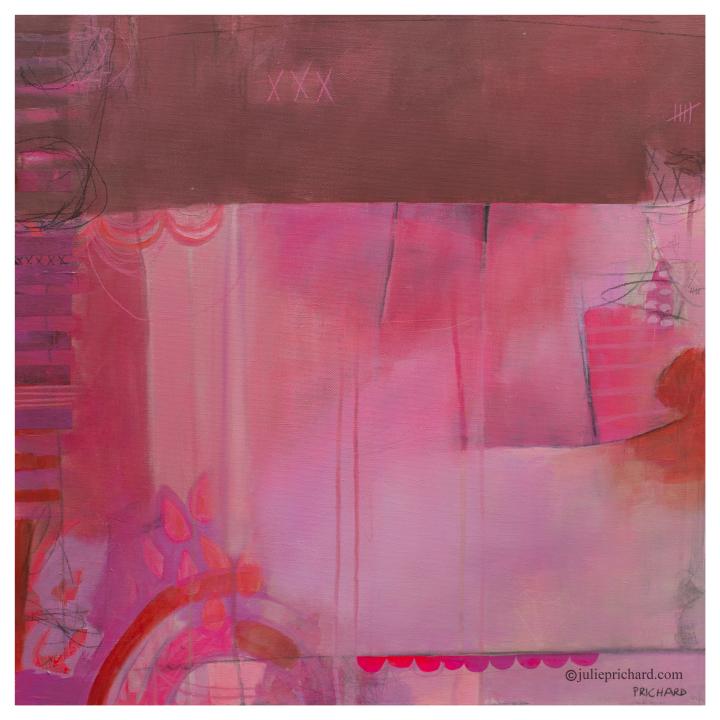 """I'm a Diamond"" new art; 24x24 mixed media on gallery canvas. Available $450"