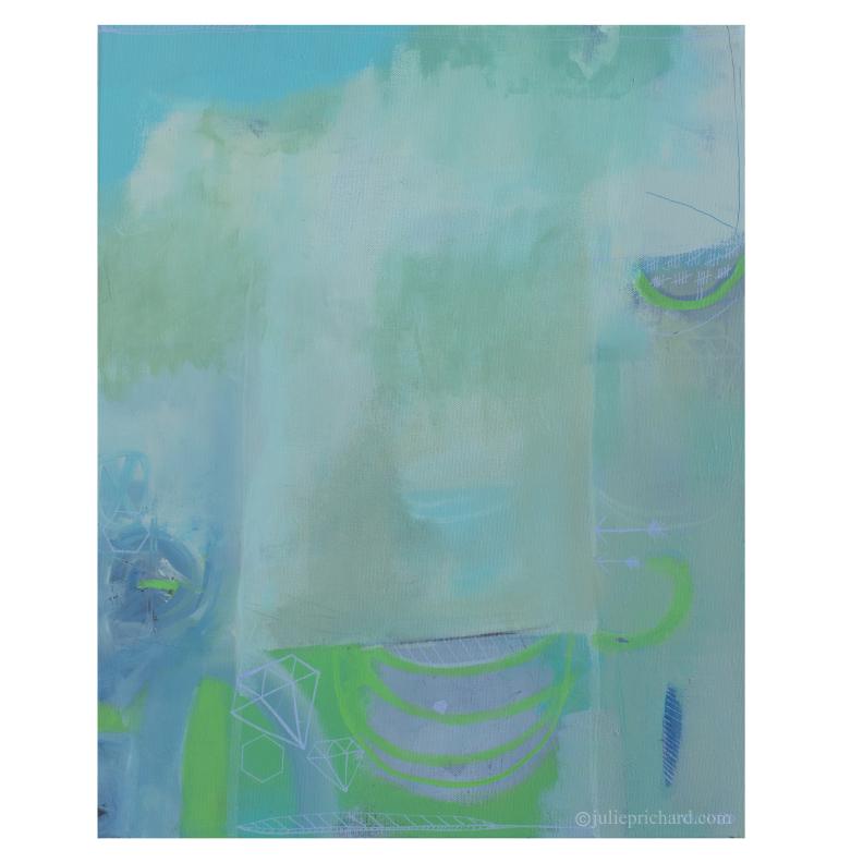 "New art: ""Diamond Vision"" 16x20 Acrylic on gallery canvas"