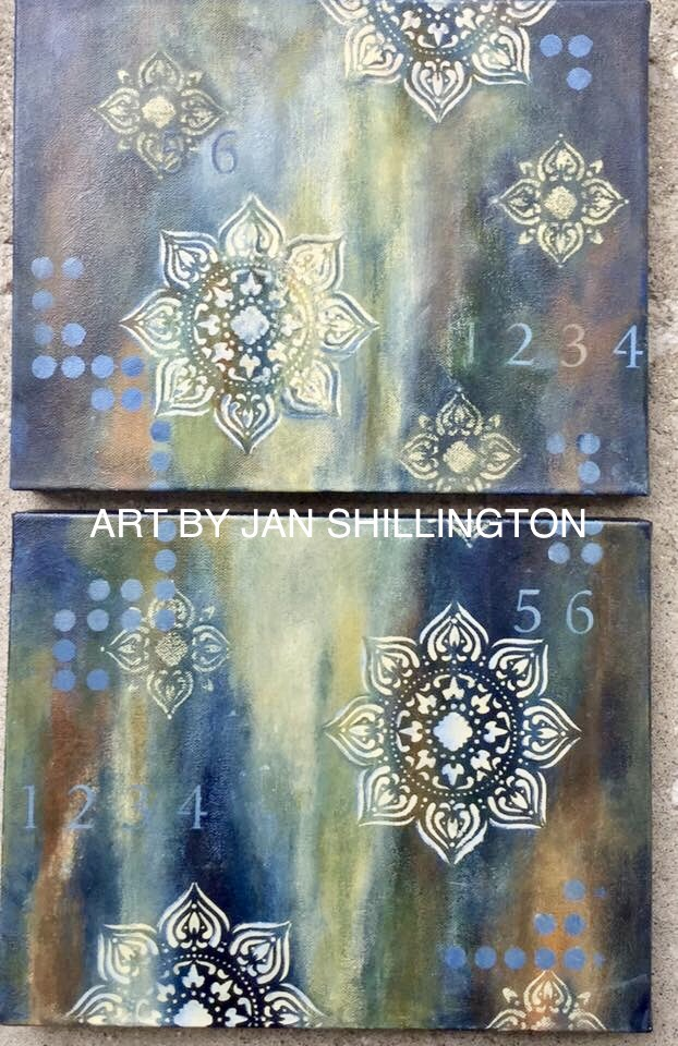 Texture town class work from Student, Jan Shillington.