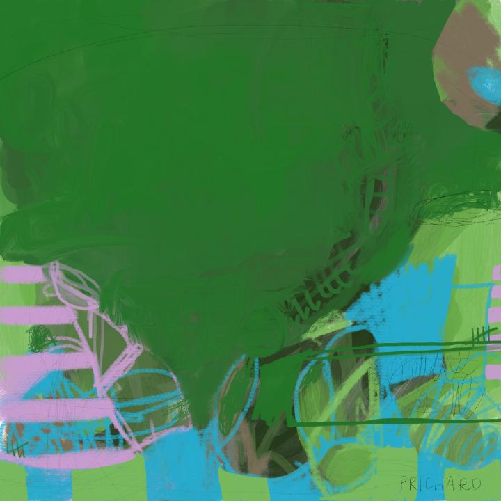 """The desert is Green"" - 10 x 10"" Digital painting."