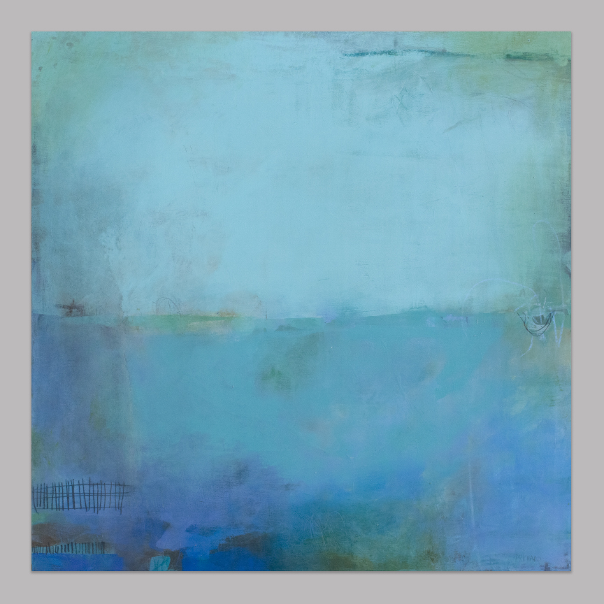 """Reef"" 24x24x1.5"" Cradled wood panel. Archival materials. Dirt cheap.  Check it out here ."