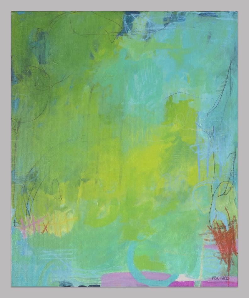 "20x24"" ""River Walk"" Original Mixed Media Painting from Julie Prichard"