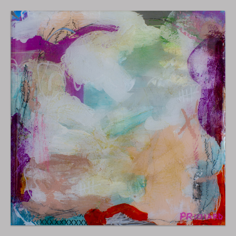 """From the """"Atmosphere"""" collection. Mixed media with resin.  Available here ."""
