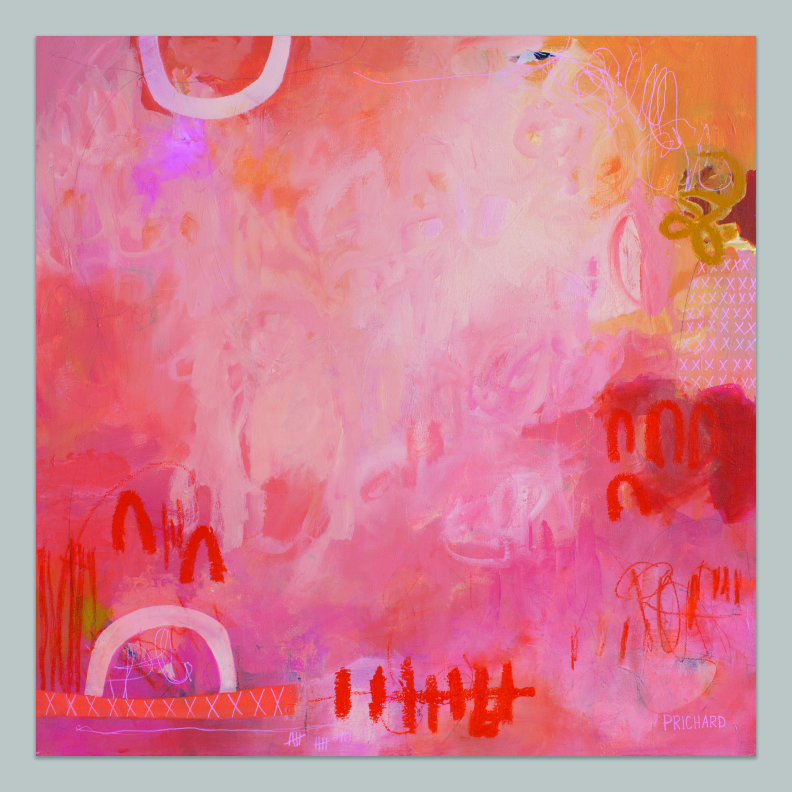 """""""Sunset Jubilee"""" NEW from artist, Julie Prichard 24x24"""".  Click here  for more info."""