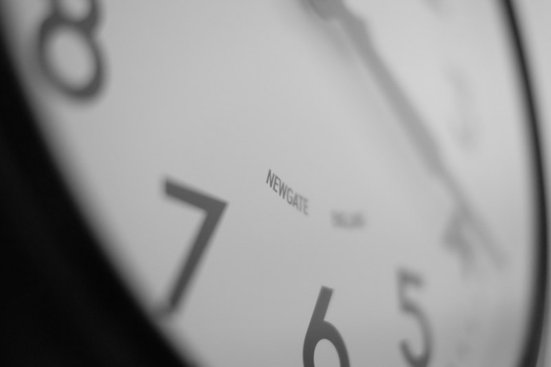 Newgate Clock - Fuji 35mm f1.4 @ f1.4