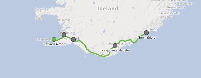 The Scenic Route along the Southern Coast of Iceland takes in some stunning scenery