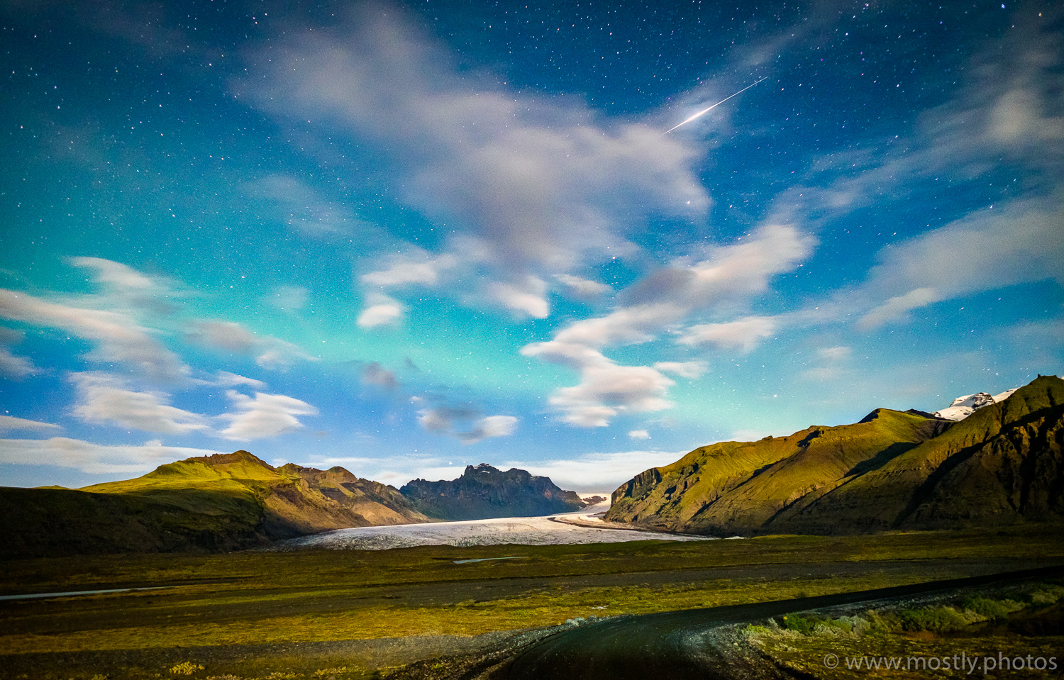 Fuji X-T1 - A hint of the Northern Lights above the Myrdalsjokull Ice Cap