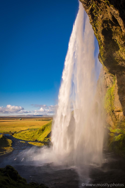 Fuji X-T1 - Cascading water from the path behind Seljalandsfoss falls
