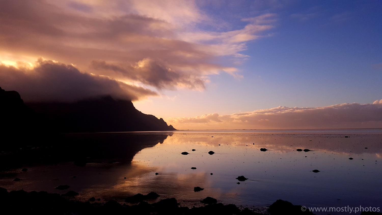 Sunrise near Hofn, Iceland