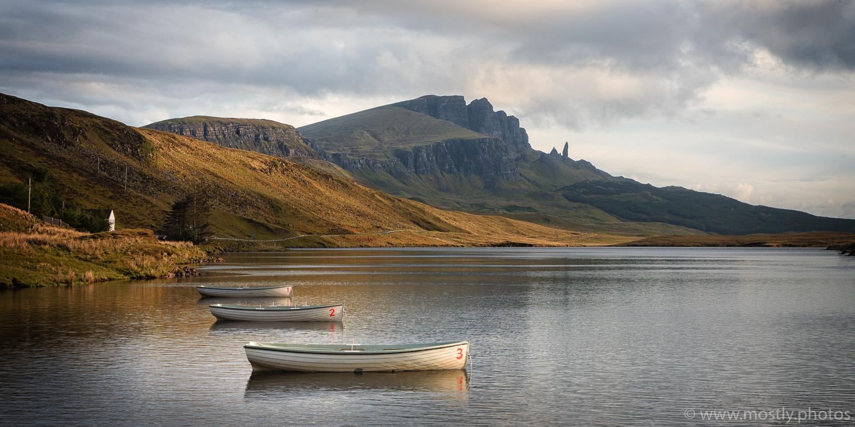 Three Boats - Loch Leathan, Isle of Skye, Scotland
