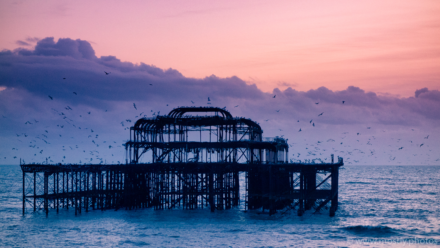 The remains of the pier at Bright, UK
