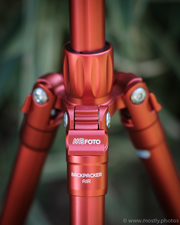 Bright Red MeFoto Backpacker Air Tripod