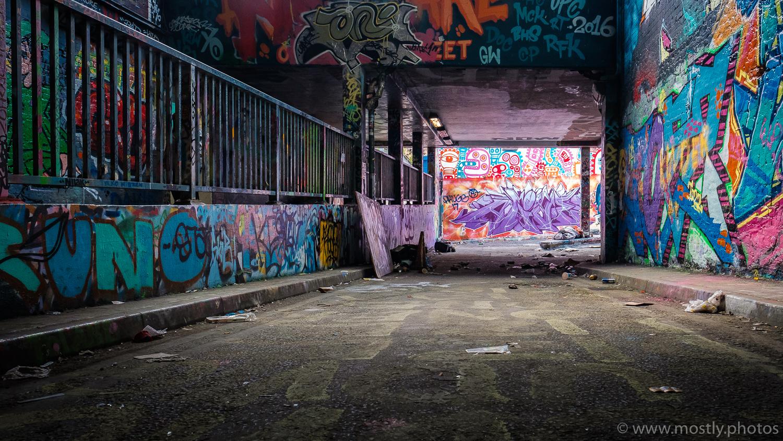 Leake Street Tunnel underneath London Waterloo Station.