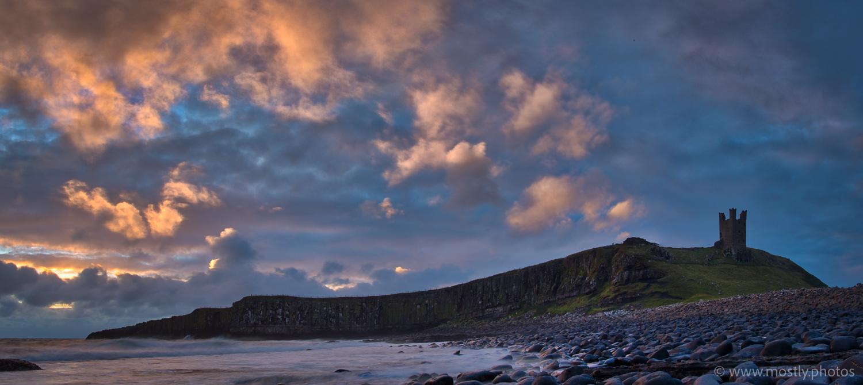 Fuji X-T2 and Fuji 18-135mm Dunstanburgh Castle just after dawn