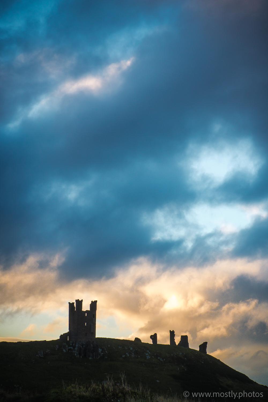 Fuji X-T2 and Fuji 18-135mm Dunstanburgh Castle silhouette