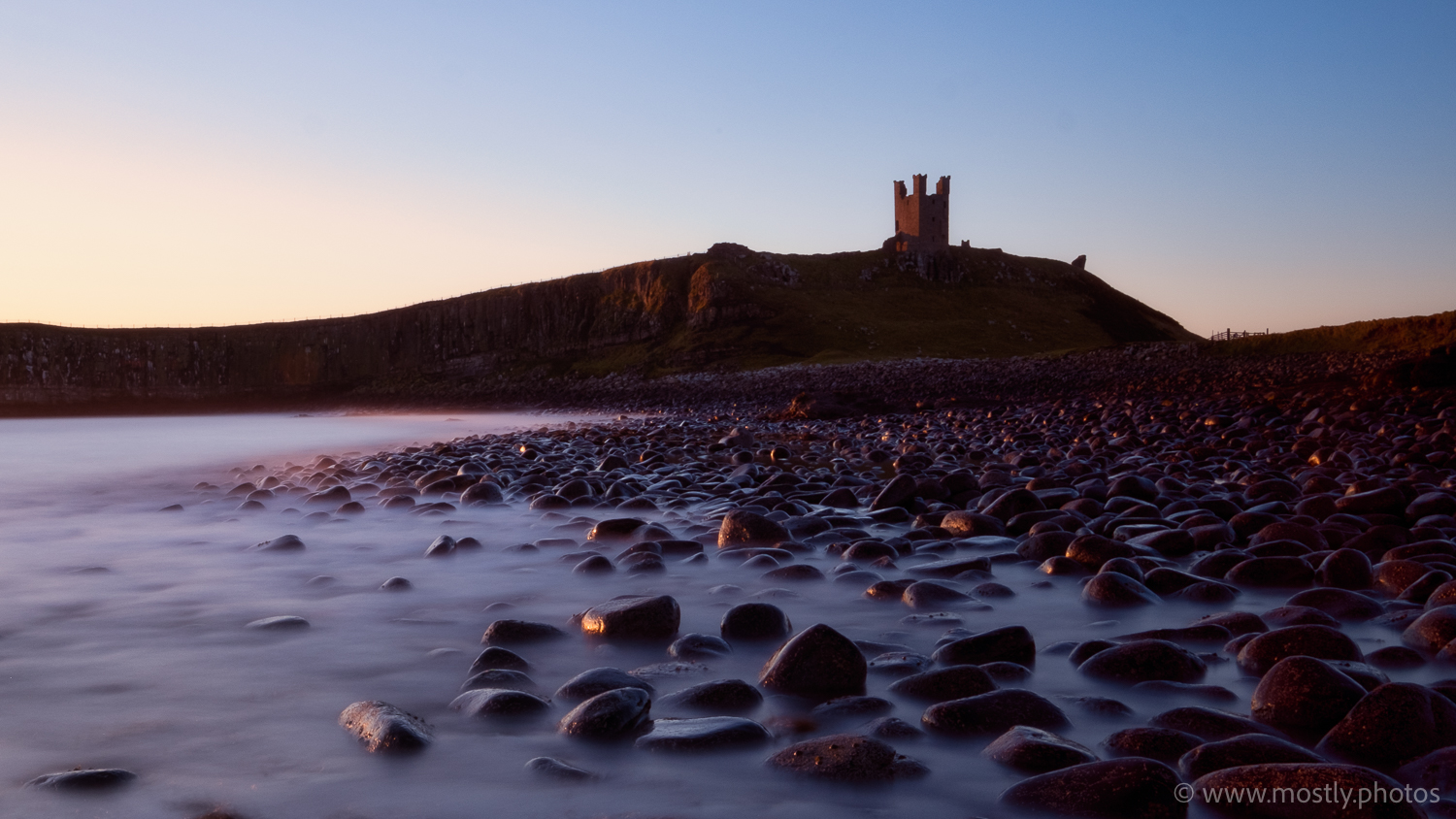 Fuji X-T2 with Fuji 10-24 f4 Dunstanburgh Castle in early morning light