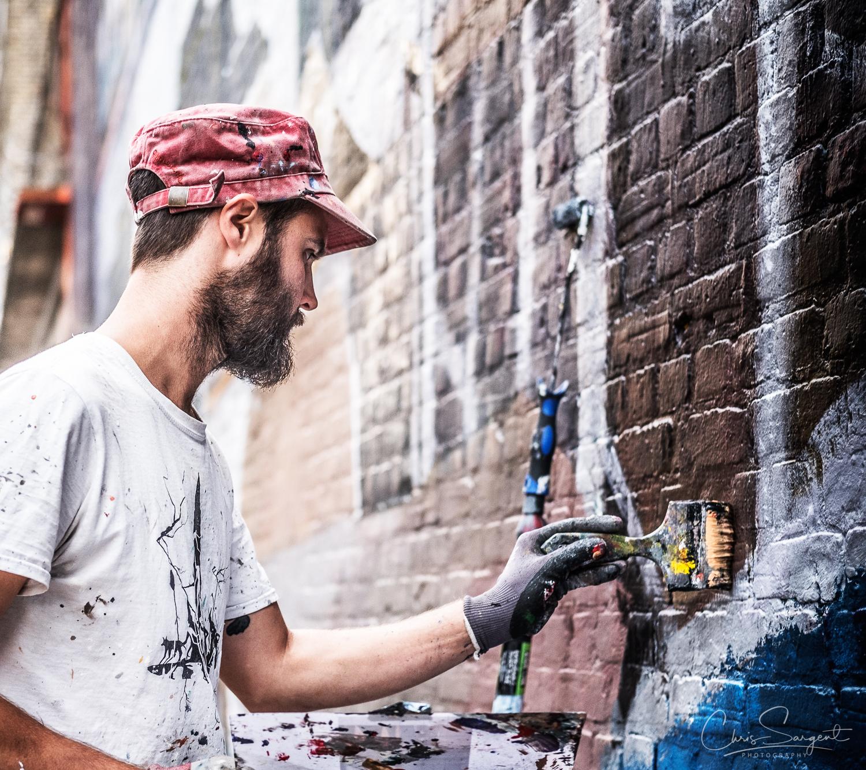 Fuji X-T2 Graffiti Artist at work in Shoreditch East London