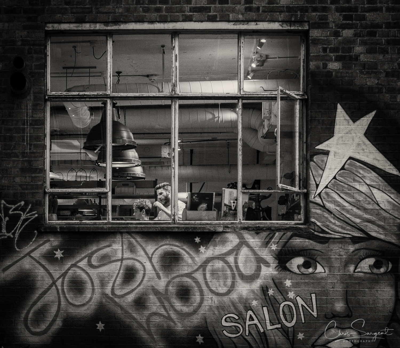 Fuji X-T2 Barber at work in Shoreditch, East London