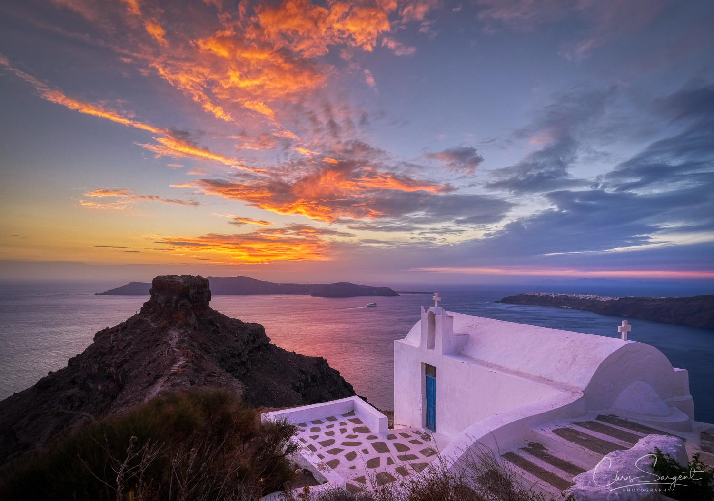 Santorini Sunset Fuji X-T3 HDR created with Aurora HDR 2019