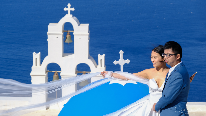 Three Bells of Fira Church, Fira, Greece  Fuji X-T3 and Fuji 18-135mm lens Fuji Velvia Film Simulation