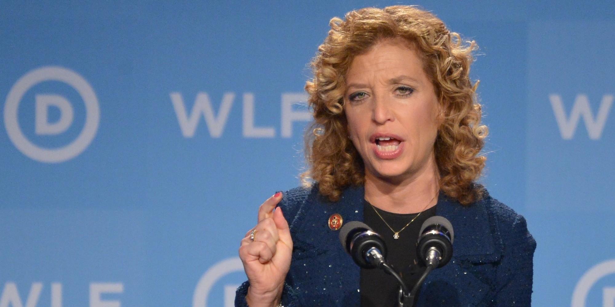 Democratic National Committee chairwoman Debbie Wasserman Schultz