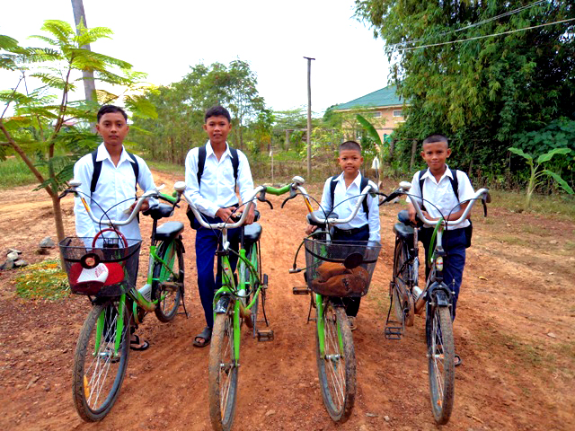 Thanks to the generous sponsors who help our kids get to and from school safely with the help of new bikes.