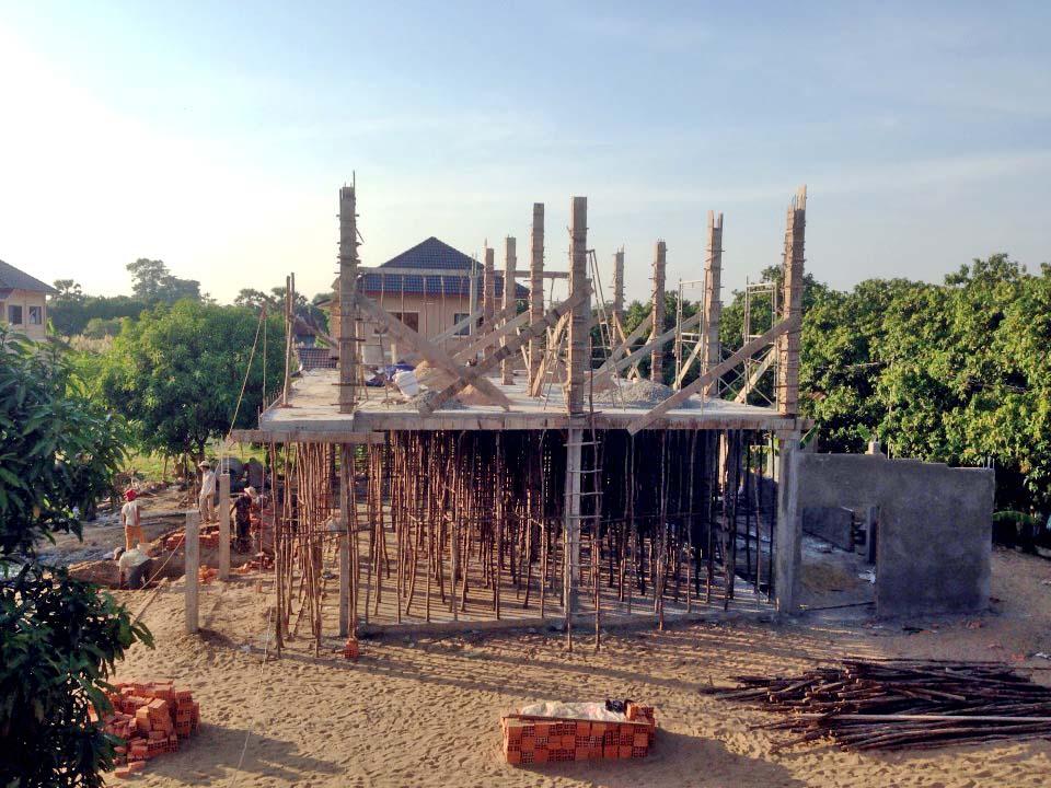 A bird's-eye view of the construction.