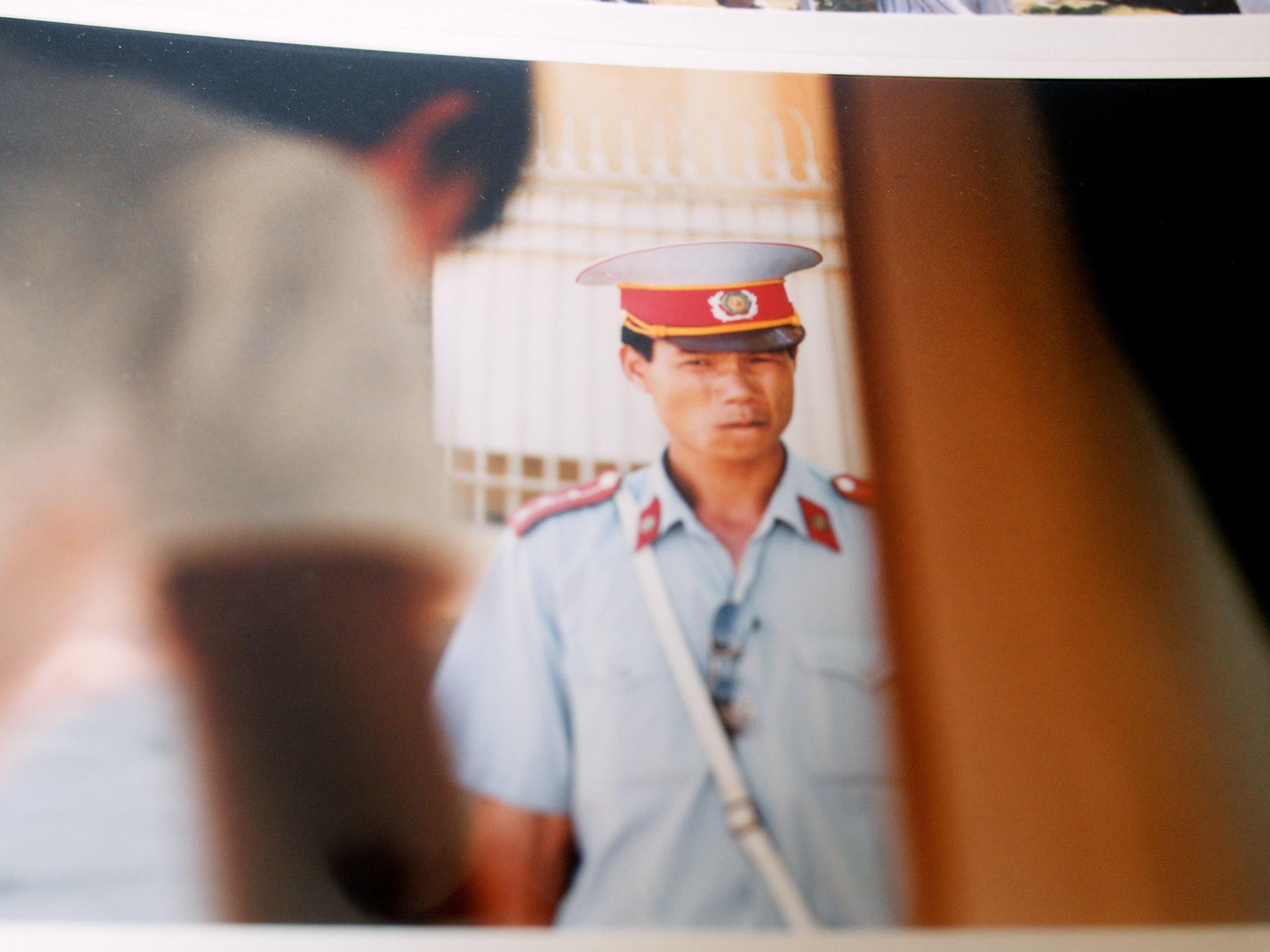 A guard at Ho Chi Minh's mausoleum, Hanoi, 2008