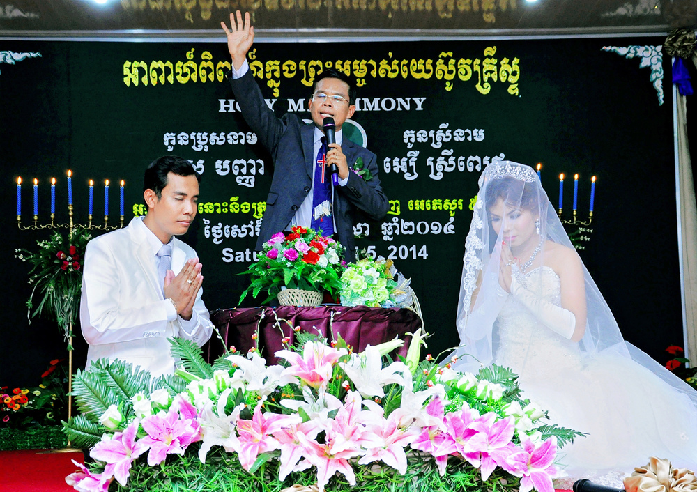 Asia's Hope Cambodia director Savorn Ou presided over the wedding of Srey Pich, a student who graduated from our Prek Eng 1 home.