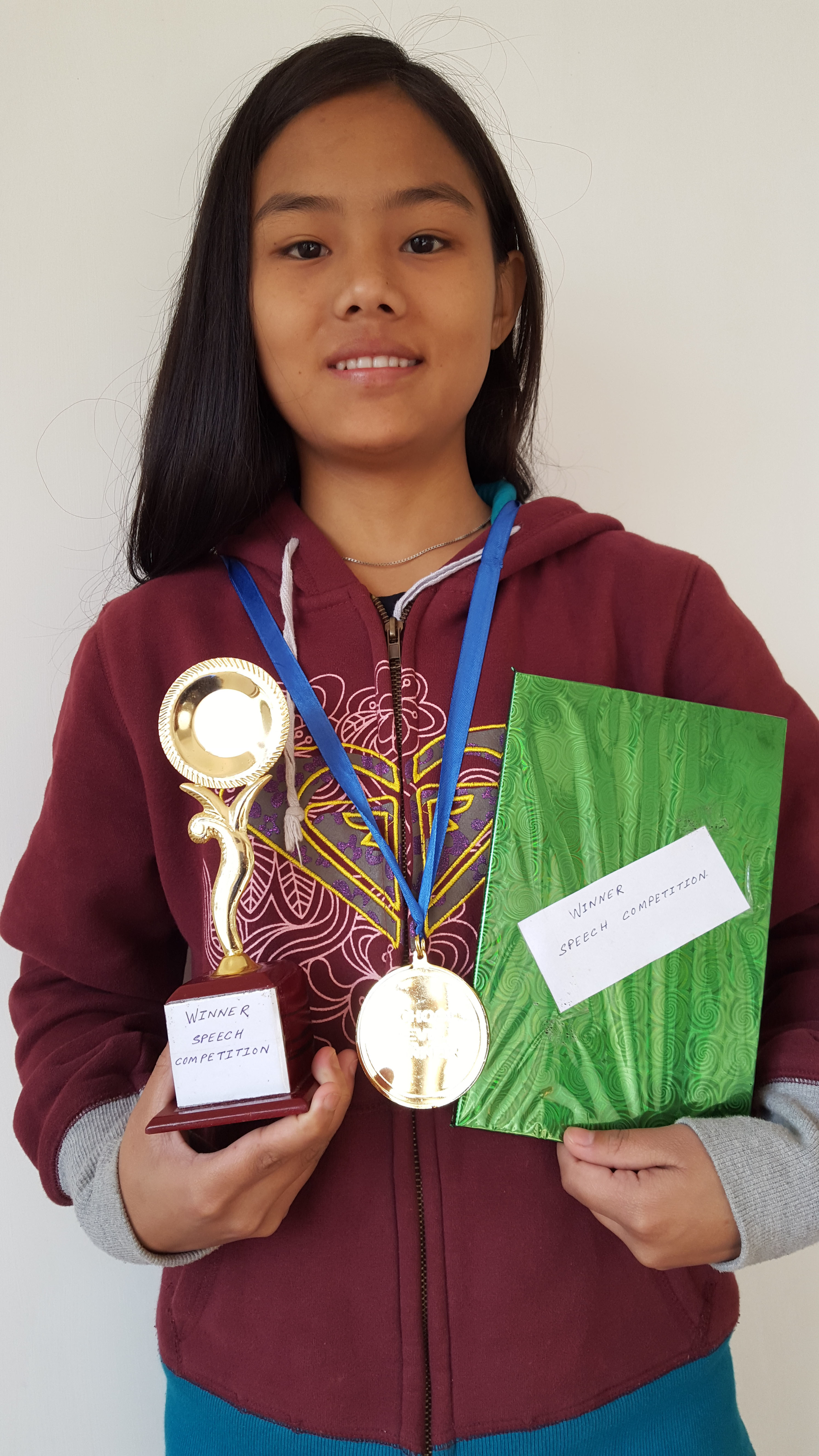 Top student in school from Asia's Hope in Kalimpong, India