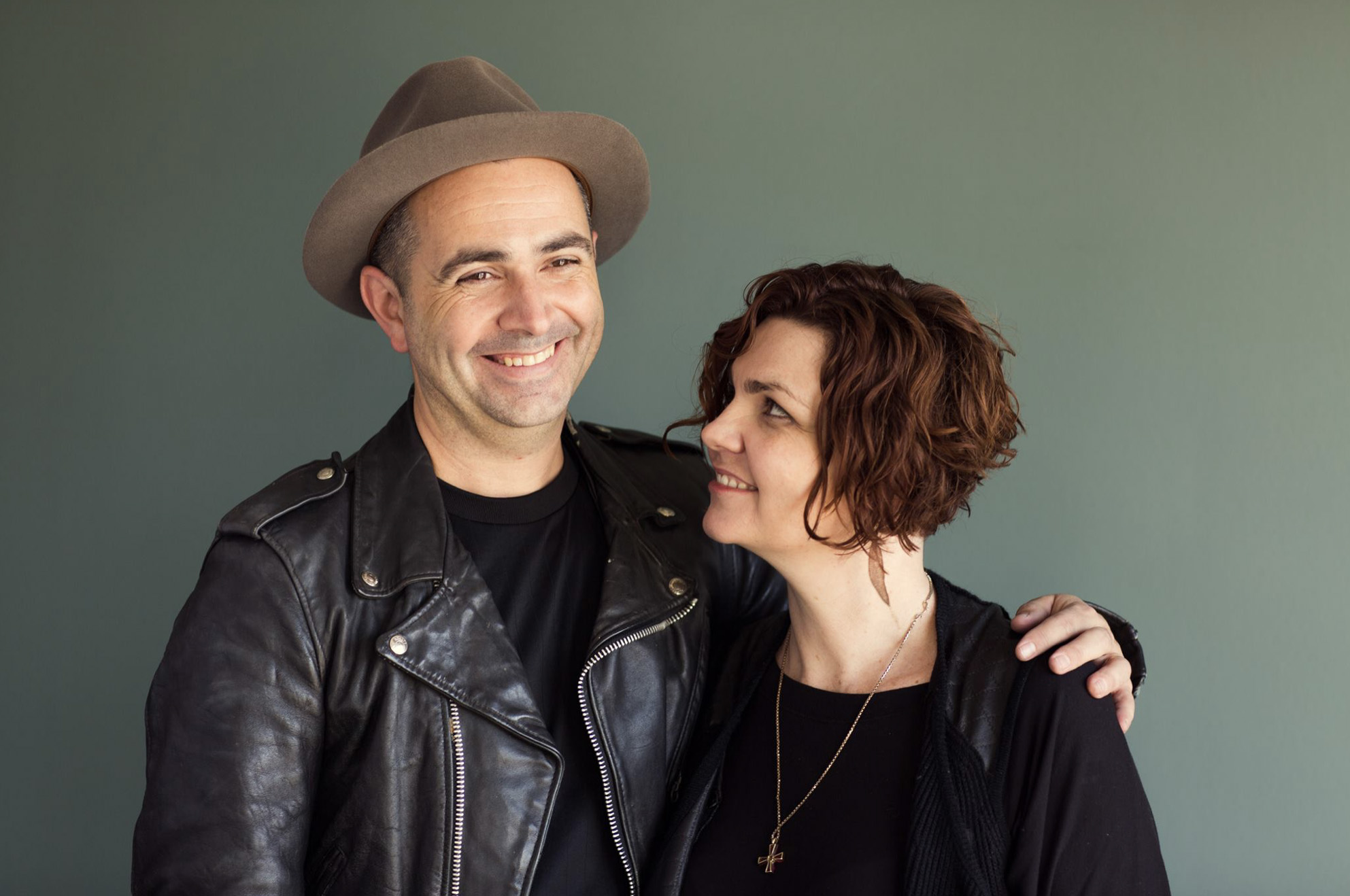 Simon is pictured here with his wife, Melanie.