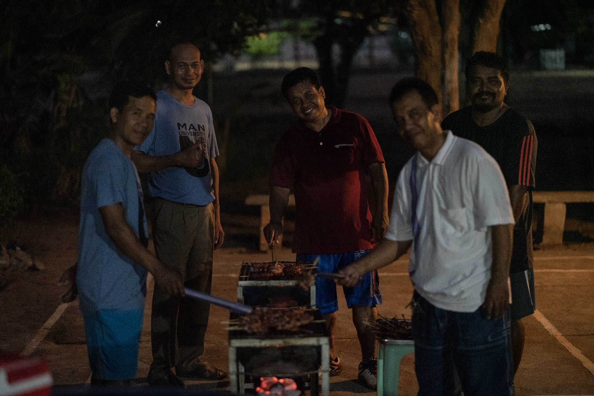 Asia's Hope dads help with the cooking in celebration of International Women's Day.