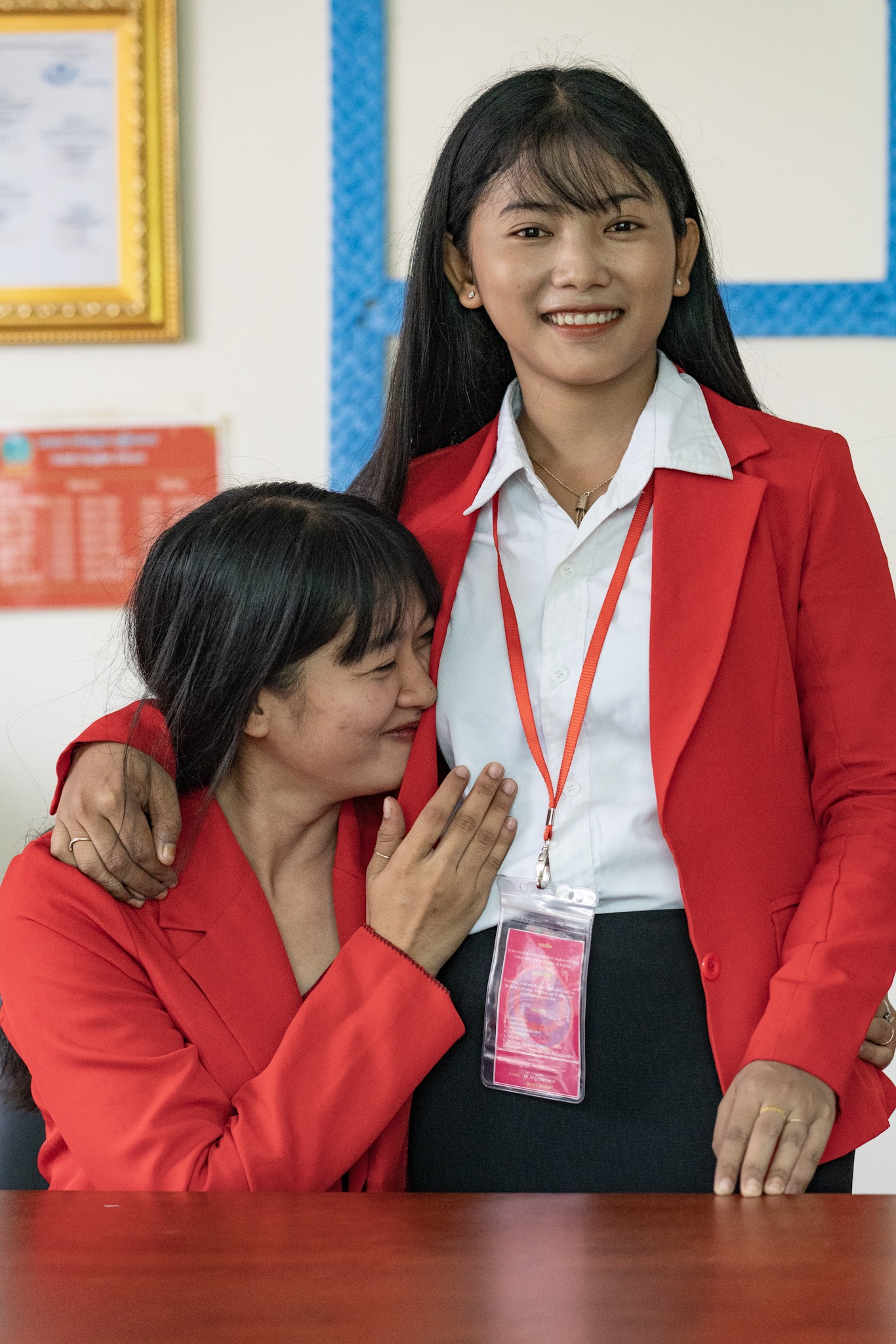 These Asia's Hope grads are now not just great friends but proud co-workers.