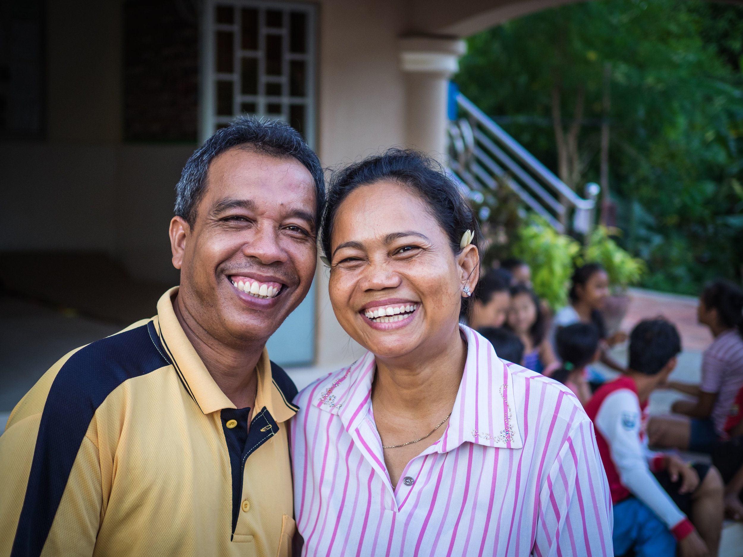 With a bit of sadness we wish Narun and Sophal — parents at the Prek Eng 2 home for 13 years —congratulations on their retirement and prayer for the next chapter of their lives.