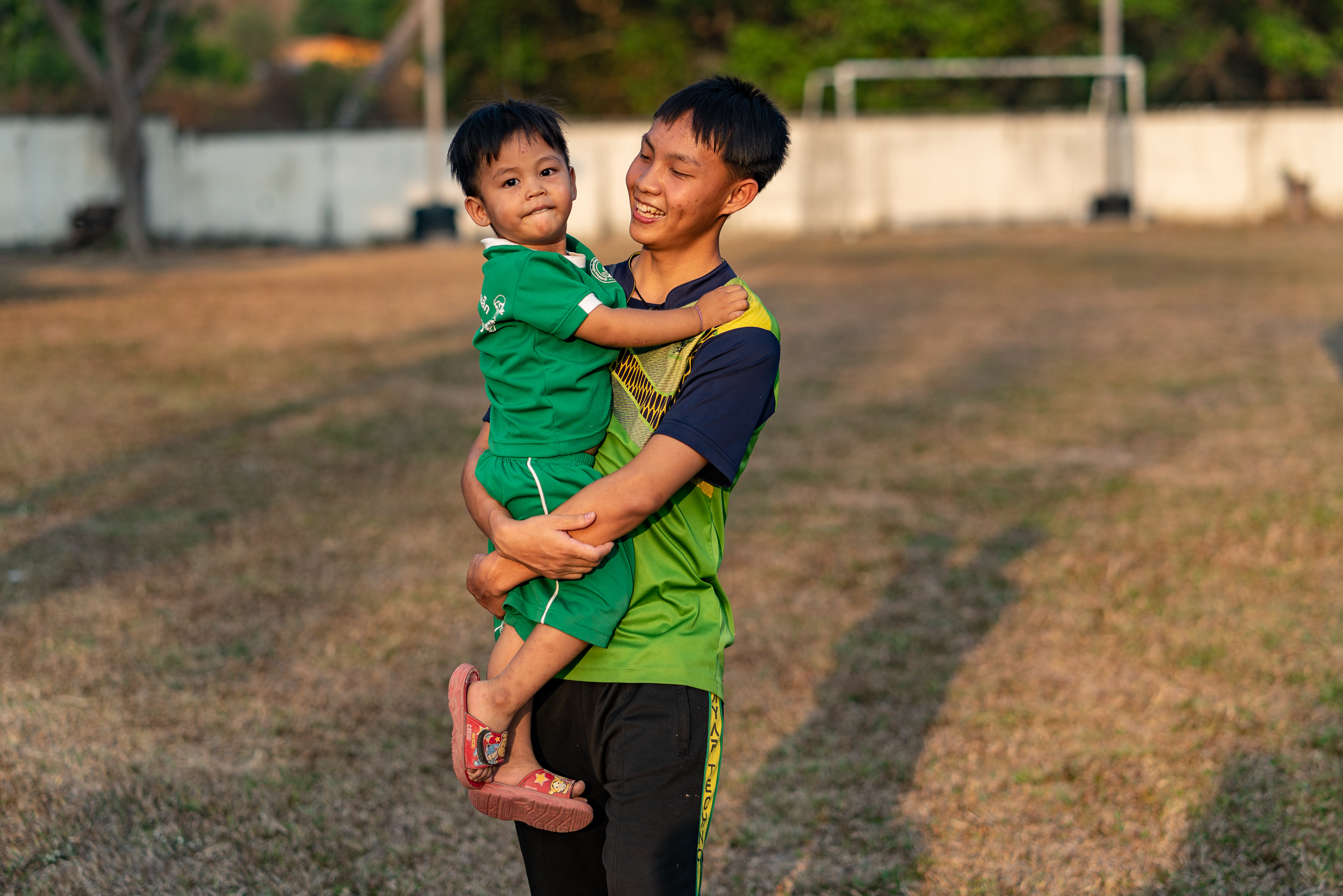 Geoff and Kay Jollay, members of our partner Chets Creek Church, funded the construction of our new soccer field on our Doi Saket, Thailand campus.