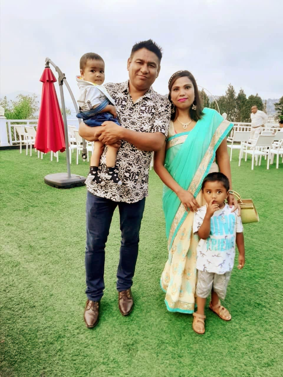 Home parents Gopal and Kabita have been married for five years and have two sons: Gabriel, 4 and Kelvin, 1.