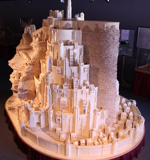 1.  A hand made Minas Tirith for LOTR fans  http://bit.ly/juyiD5  