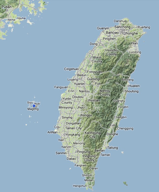 Magong on the island of Penghu in the Taiwan Straights